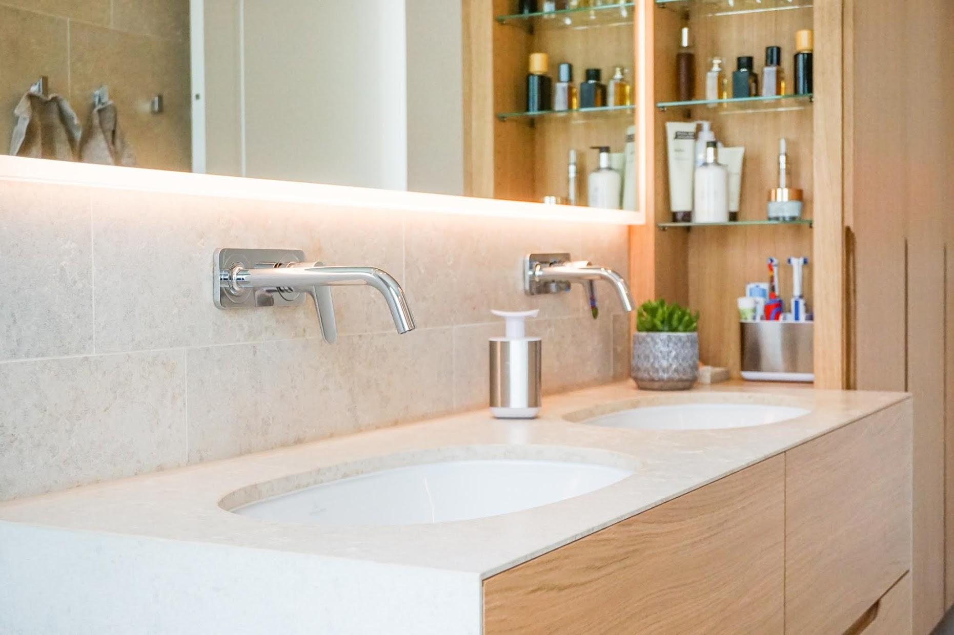 Waschbecken aus Naturstein Badezimmer