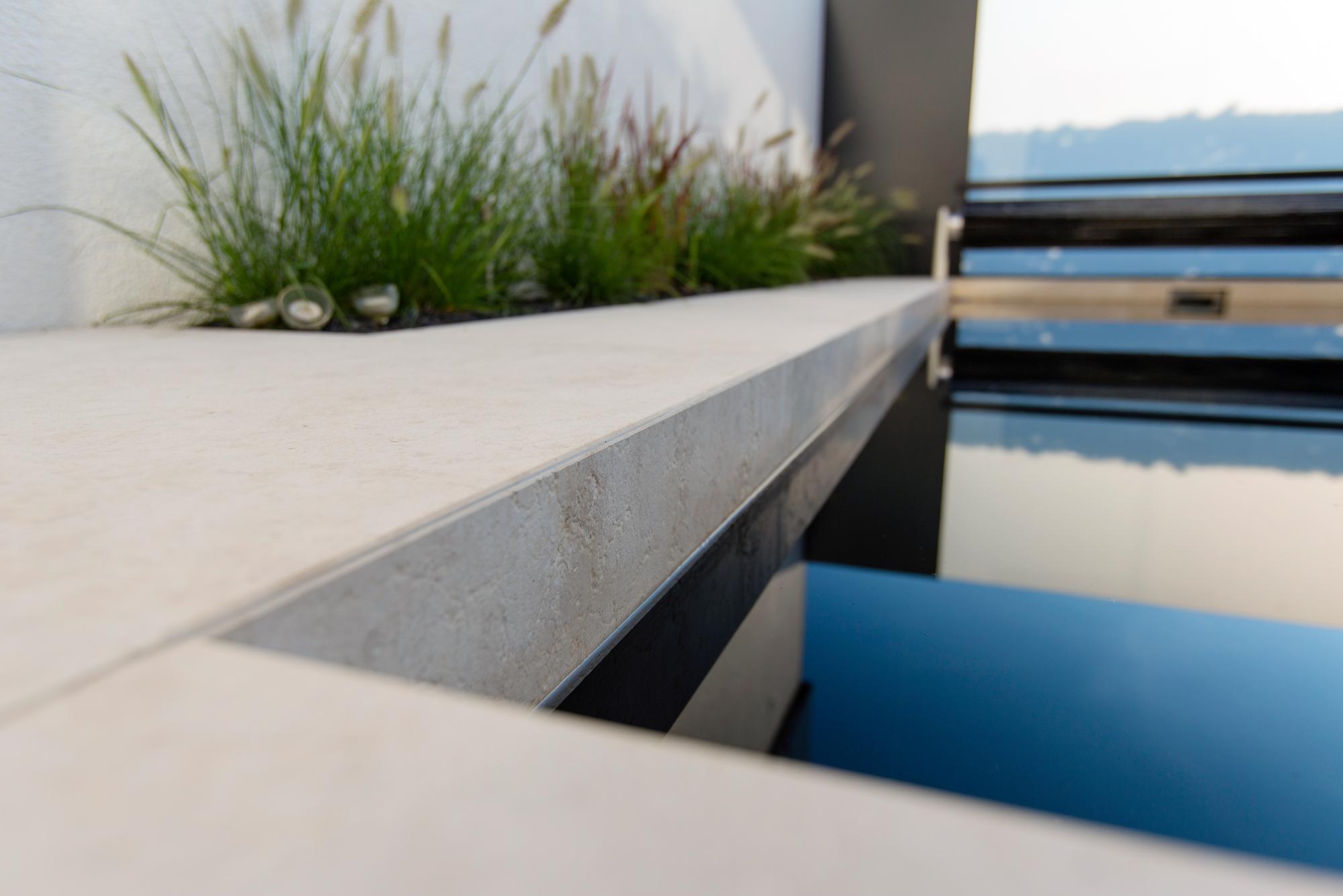 Poolplatten aus Kanfanar